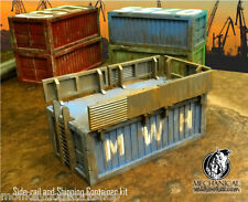 Shipping Container w/ side rails 40k Infinity dark age 28mm terrain