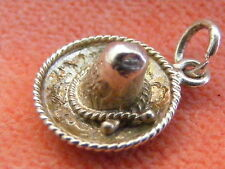 VINTAGE STERLING SILVER CHARM MEXICAN SOMBRARO
