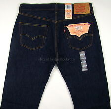 Levis 501 Jeans Original Mens New Size 34 x 30 VERY DARK BLUE Button Fly NWT