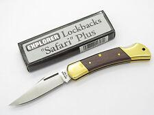 VTG EXPLORER 11-303 SEKI JAPAN FOLDING LOCKBACK POCKET KNIFE BUCK HUNTER STYLE