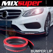 MIXSUPER Rubber Front Bumper Lip Splitter Chin Spoiler Trim EZ Protector RED l