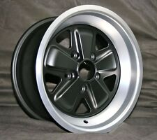 Porsche Fuchs 16x8 Wheel - NEW Replica TUV approved ET10.6 MATTE BLACK Finish