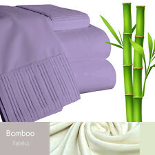 Bamboo Living Eco-Friendly 3 Piece Duvet Cover Pillowcases Set - King - Purple