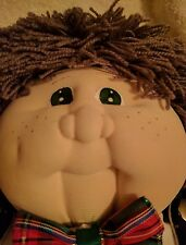 SOFT SCULPTURE TODDLER X-Mas~Cabbage Patch Kid/Little People~VINTAGE CLOTH DOLL~