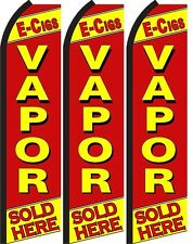 Vapor Sold Here King Size  Swooper Flag Banner  Sign Pack of 3