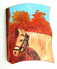 Painting of a horse in the forest, Wooden Wall Hanging handmade home deco