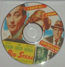 FILM NOIR: The Big Steal B&W (1949) Don Siegel, Robert Mitchum, Greer, Bendix
