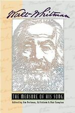 Walt Whitman: The Measure of His Song-ExLibrary