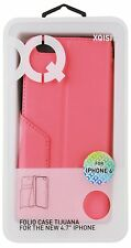Xqisit Tijuana Folio Case and Wrist Strap for iPhone 6 4.7 Inch - Pink New