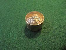 UNIQUE HANDCRAFTED 1920S CANADA 1 CENT COPPER COIN SNUFF BOX/ PILL BOX