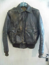 SCHOTT IS-6874-MS A2 DISTRESSED LEATHER FLYING JACKET SIZE 40 TALON ZIP