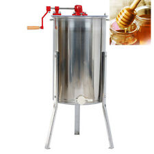 Large Two 2 Frame Honey Extractor Stainless Steel Beekeeping Equipment Silver