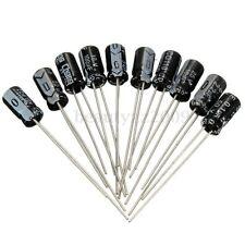 100 Pcs 10 Value Electrolytic Capacitor Assortment Kit Assorted Set 0.1uF~100uF