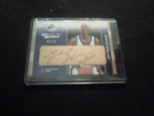 alabama basketball gerald wallace upper deck certified signed kings nba card