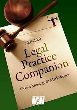 Legal Practice Companion 2009/2010, Mark Weston, Gerald Montagu, Very Good, Pape