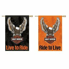 Harley-Davidson Double Ride to Live - Live to Ride Flag