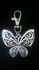 Grande Farfalla 55x50mm Argento Tibetano Portachiavi Da Borsetta