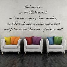 Wandtattoo 60cm Zuhause ist wo die Liebe wohnt Sticker Spruch Zitat Aufkleber