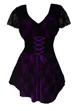 NWT WOMENS PLUS SIZE CLOTHING SWEETHEART CORSET TOP IN PURPLE 5X