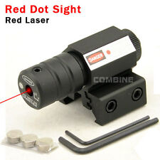 Hunting Compact Tactical 650nm 1mw Red Laser Dot Sight 20mm/11mm Rail Mount MINI