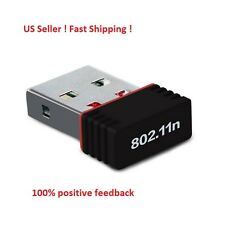 USB Nano Mini Wireless Wifi Adapter Dongle Receiver Network LAN Card PC 150Mbps