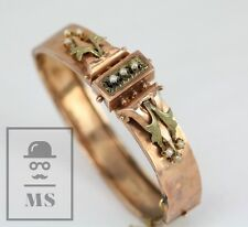 Late 1920's Art Deco 14K Rose Gold with Small Pearls Bracelet