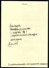 Charles Dance Brief Original Signiert 21x30 ## G 10400