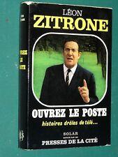 Ouvrez le poste  Léon ZITRONE dédicace autographe