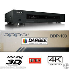 OPPO DIGITAL BDP-103D DARBEE EDITION UNIVERSAL NETWORK 3D BLU-RAY 4K PLAYER NEW