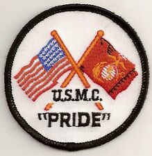 USMC PRIDE MILITARY VETERAN EMBROIDERED IRON ON PATCH
