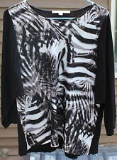 Woman's Black and White Shirt/Sweater by Marc New York; Size:  Small