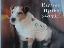Knitting Pattern button up dog sweater chest 41,44,51,56,67 cm