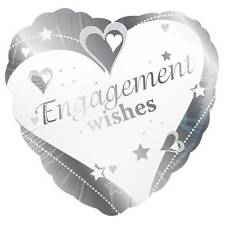 """18"""" FOIL BALLOON """"ENGAGEMENT WISHES"""" PARTY"""