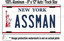 Seinfeld  Cosmo Kramer ASSMAN  replica license plate  / All Aluminum for AUTO