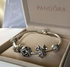 AUTHENTIC PANDORA DISNEY PARKS EXCLUSIVE MICKEY CZ ICON BRACELET WITH CHARMS