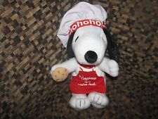"""HALLMARK SNOOPY HAPPINESS IS A WARM COOKIE CHEF PLUSH 8"""""""
