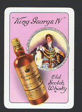 Playing Swap Cards 1 VINT WIDE BRITISH KING GEORGE 1V  SCOTCH WHISKY ADVT D68