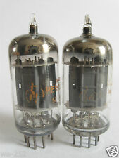 2 matched +/-1962 RCA/Hp 5963 (ECC82,12AU7) tubes - Grey Plates, Top O Getter