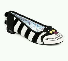 BNIB Irregular Choice Alice in Wonderland Cheshire Cat Flats UK 7.5 - ONLY PAIR!