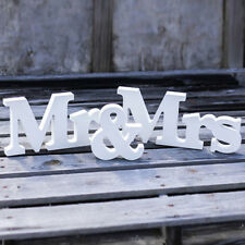 MR & MRS White Wooden Letters Wedding Standing Sign Decor Table Centerpiece