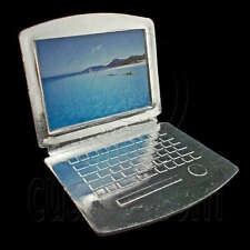 Silver Laptop Notebook 1:6 for Blythe Barbie Doll's House Dollhouse Miniature