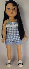 Espari Barns & Nobel 2014 Aisian Blue/White Plaid Jumper 18 Inch Doll