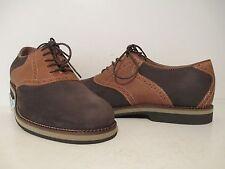 Bass Mens Burlington Leather Suede Saddle Oxford Dress Shoe Java/ Graham Sz 11 D