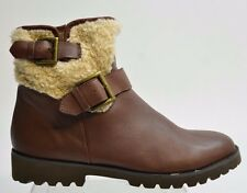 Easy Spirit BOWER Women's Brown Leather SHORT BOOTS Size 9.5M