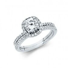 1 carat 14k real White Gold  Round cut  Engagement Wedding  Ring only