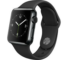 Apple Watch (A1553) 38mm Black Stainless Steel Case & Black Sport Band (88603)