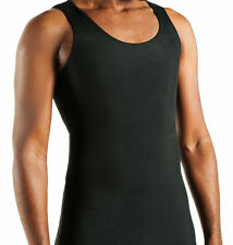 Gynecomastia tank undershirt 3X black Designed to flatten chest Made in USA