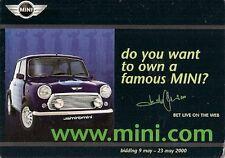 Rover MINI JAMIROQUAI enchères 2000 Carte Postale ventes marché britannique