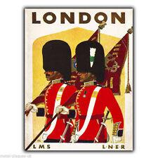 LONDON LMS LNER Vintage Retro Travel Advert METAL WALL SIGN PLAQUE poster print