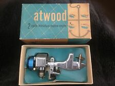 RARE 1950's Very Early ATWOOD TOY OUTBOARD MOTOR IN BOX MINT